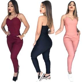 Macacão Bengaline Moda Blogueira