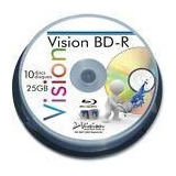 Vision Blu-ray Recordable Media - Bd-r - 6x - 25 Gb - 10 Pac