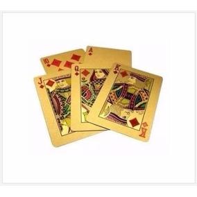 Baralho Dourado Poker Truco Cartas Jogo (flexível Brilhante)