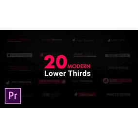 20 Lower Thirds Para Premiere Pro