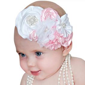 1 Hermosa Diadema De Flores Con Pedreria Fotos Sesion Bebé