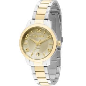 2bd7fcbc359 Relógio Feminino Technos 2115kog 5x 32mm Aço Dourado E Prata