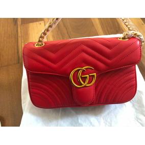 c17970111 Bolsa Gucci Gg Marmont - Calçados, Roupas e Bolsas Vermelho no ...