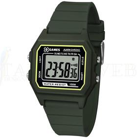 a36de18c7a6 Relógio Masculino Digital X Games Preto Com Verde - Relógios De ...