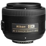 Lente Nikon Af-s Dx Nikkor 35mm F/1.8g P/ D3400 D3500 D5600
