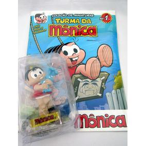 Miniatura Mônica 10 Cm Com Fascículo Nº 1 Turma Da Mônica