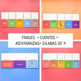 4 Libros Móviles: Silabas / Frases / Adivinanzas / Cuentos