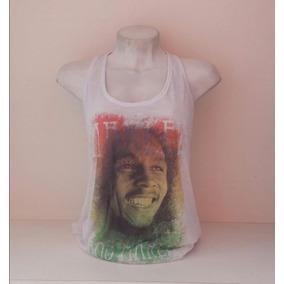 Camiseta Feminina Baby Look Regata Reggae Bob Marley Kawipii c6d1820458a