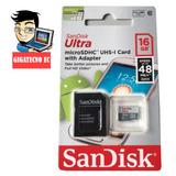 Memoria 16gb Celular Class-10 Sandisk | Gigatecno Ec