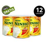 Ninho Zero Lactose Lata 380g - Caixa Com 12 Latas