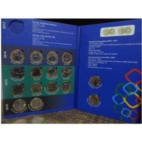 Álbum Com 17 Moedas Olimpíadas