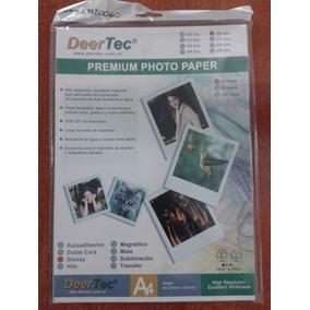 Papel Fotográfico Deertec Glossy 200gr 20 Hojas