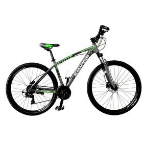 Bicicleta Scarafaggio Rin 29 Hidráulica 2019 Gris Verde