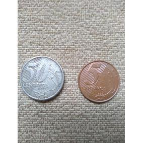 2 Moedas De 1998 . 0,05 E 0,50