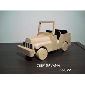Carrinho Artesanal De Madeira - Jeep Savana Cod.14