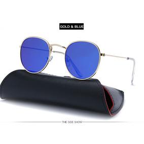Óculos De Sol Masculino feminino Retro- Proteção Uv400- Blue 3d1fd10c08