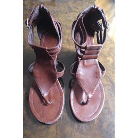 Zapatos - Sandalias De Cuerina Con Taco Corrido 18d8eb6bdb020
