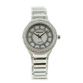 Reloj Sweet 1927ls Plateado Acero Cristales Swarovski Gtia