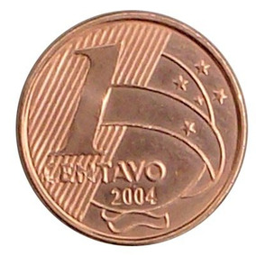 Moeda De 1 Centavo Real - 2004