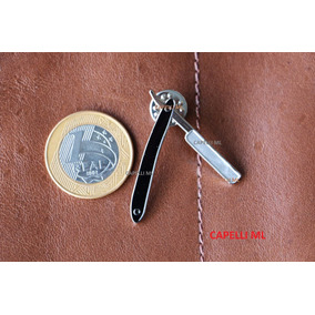 Broche Navalha Navalhete Barbearia Botton Pin Barber Shop