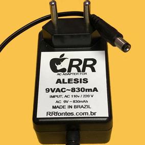 Fonte Ac 9v 830ma Para Bateria Eletrônica Alesis Dm8 Pro