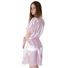 Robe De Cetim Nude - Moda Íntima e Lingerie no Mercado Livre Brasil ea530ada1c2