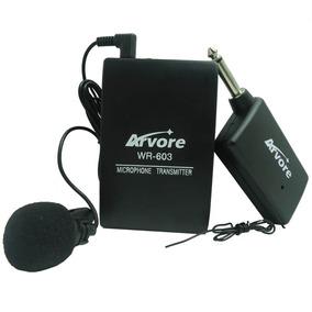 Microfone De Lapela Sem Fio Profissional Plug P10 Youtubers