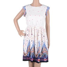 L - White - Vestidos De Cóctel De Verano Mujer Boho Cor-0956