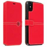 9ec48cfad1bac9 Funda Libro Billetera Façonnable Iphone X   Xs - Roja