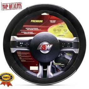 Capa Protetora De Volante Premium Preto Cromado Universal 2