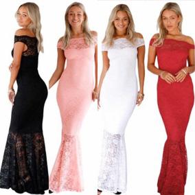Vestidos de Noche Largos de Mujer Blanco en Mercado Libre México 81826f86fe01