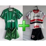Kit Infantil Time Brasileiro São Paulo E Palmeiras
