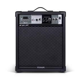 Caixa Multiuso Mf400 80w Rms App Bluetooth Usb Sd Fm Frahm