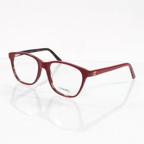 Armação De Óculos De Grau Vermelho Floral Chanel - Óculos no Mercado ... d030814fbd