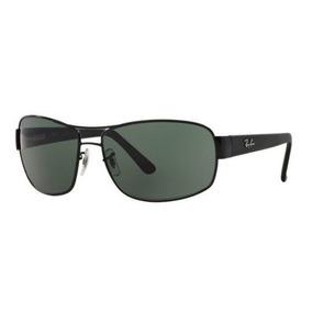 5ae803dc34a94 Oculos Sol Ray Ban Rb3503l 006 71 66mm Preto Lente Verde G15