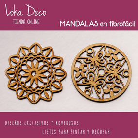 Mandalas Chakras Caladas Fibro Fácil De 10cm - Gran Variedad