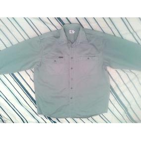 Camisa Original Calvin Klein, Talla L, Color Gris