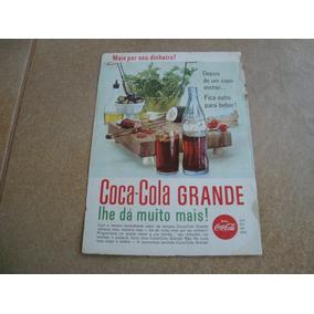 Propaganda Antiga Bebidas Coca Cola 1962 Refrigerante 2