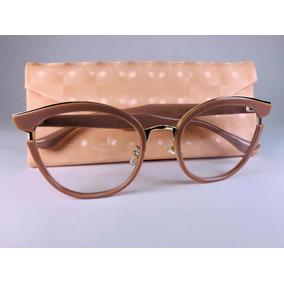 ec27dac514b17 Armacao De Oculos Nude Com Dourado Armacoes - Óculos no Mercado ...