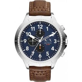 e439a986486 Armani Exchange Relógio Couro Cinza Strap Ax6006 Masculino ...