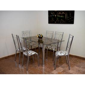 Mesa 6 Cadeiras Cromada Produto Novo