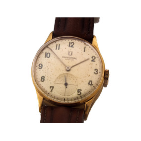 a5690ab15f1 Relógio Universal Geneve Masculino Todo Em Ouro 18k J12584