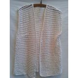 Chaleco Artesanal De Hilo Tejido Al Crochet Talle L