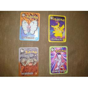 Colecao Completa Yuhioh Tazo Metal E 4 Cards Pokemon