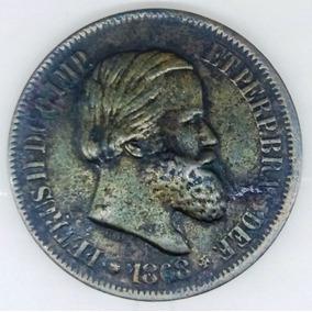 Moeda Brasil 20 Réis 1868 Pedro Ii Império Km#474