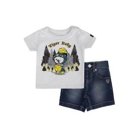 112eccbc20 Conjunto Tigor Baby Com Bermuda Jeans Gladiador 10202149