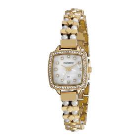 ebae437e9db Relogio Feminino Dourado Com Perola Mondaine Falsificado - Relógios ...