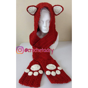 Bufanda Gorro Zorro Crochet