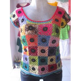 Blusas Hilo Cristal Tejidas A Mano, Varios Colores Y Diseño2