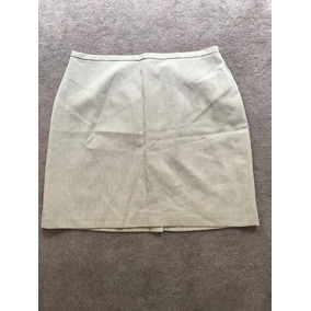 Minifalda Vestir Beige Con Forro